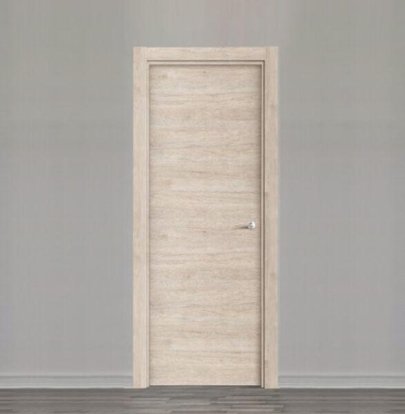 puerta laminada efecto madera de nogal