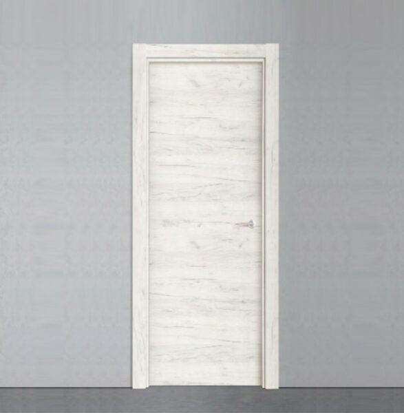 puerta laminada efecto madera de roble blanco