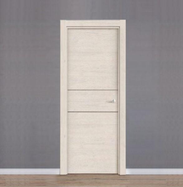 puerta de interior laminada con 2 ranuras