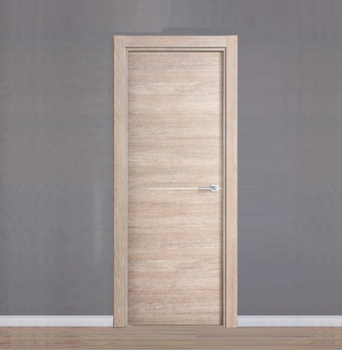 puerta laminada efecto madera de roble