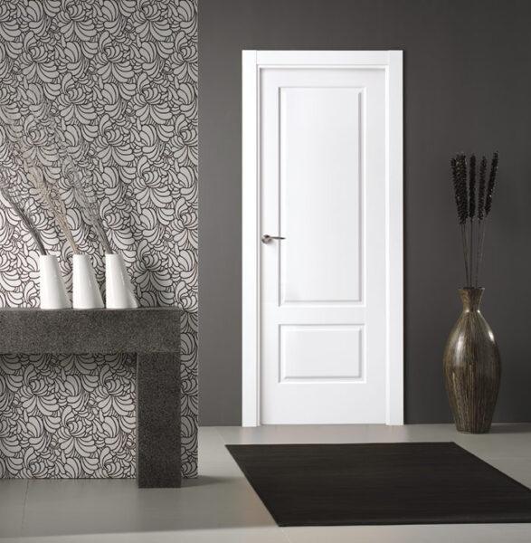puerta blanca de interior lacada