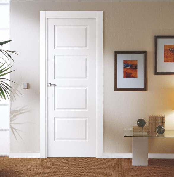 Puerta de interior lacada blanca
