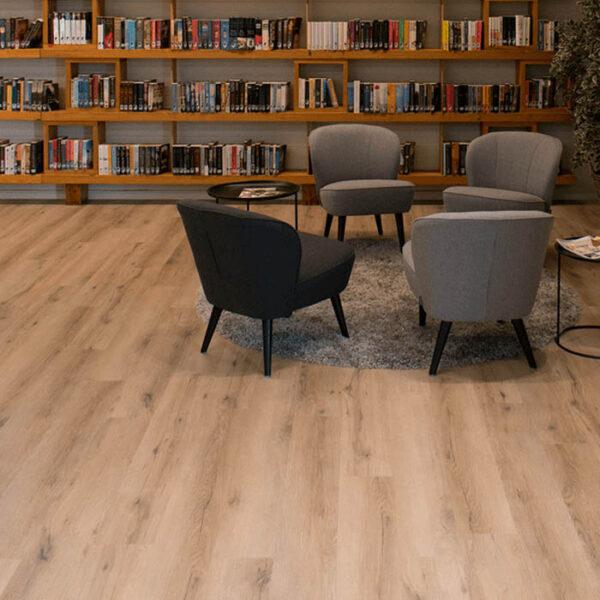 suelo vinílico biblioteca