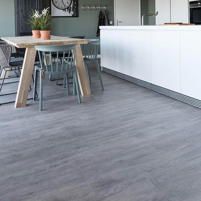 suelo vinilico gris cocina