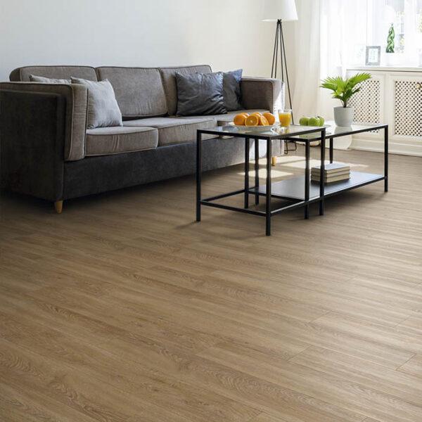 suelo vinilico imitación madera clara