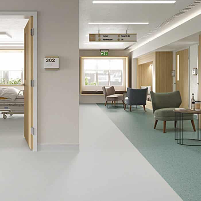 suelo de vinilo para centro de salud