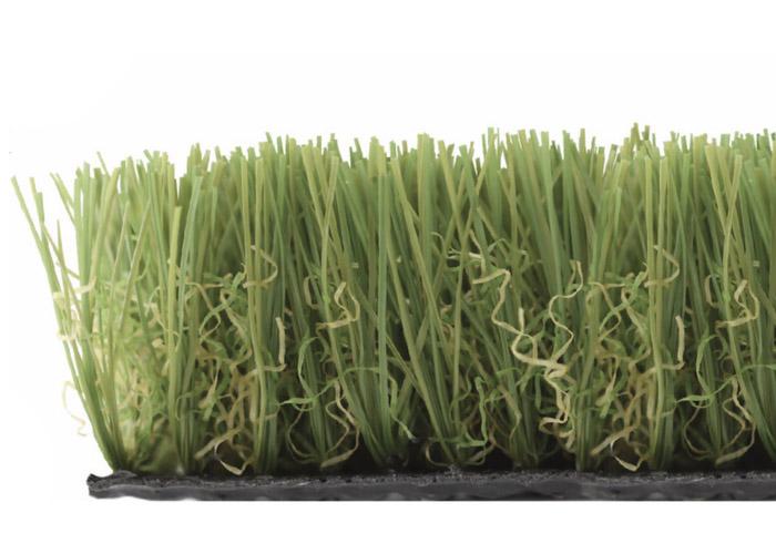 césped artificial 30 mm con rizo verde y marrón