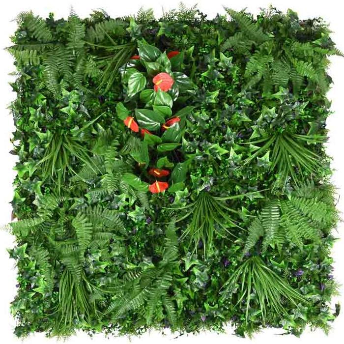 jardín vertical plantas tropicales