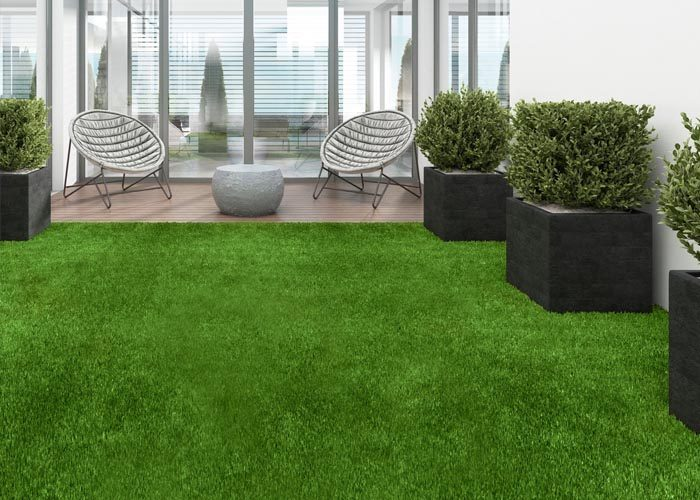 césped artificial patio